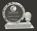 Custom Tournament Crystal Plate & Tee Golf Award, 4