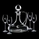 Custom 32 Oz. Crystalline Horsham Decanter W/ 4 Wine Glasses