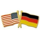 Custom Usa & Germany Flag Pin, 1 1/8