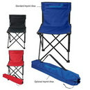 Custom Price Buster Folding Chair With Carrying Bag, 18 15/16
