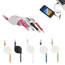 Custom Retractable 2-In-1 USB Charging Cable, 11/4