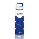 Custom The Asana Glass/Silicone Bottle - 19oz Blue