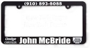Custom American Standard Size License Plate Frame for Automobile, 12 1/4