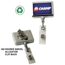 Custom Chrome Rectangle Badge Reel (Label Only)