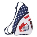 Custom Patriotic Sling Backpack, 9