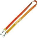 Custom Double Hooks Polyester Lanyards, 35 3/8