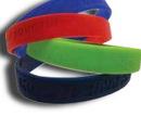 Custom Debossed/ Embossed 12 Mm Silicone Bracelet, 12mm W