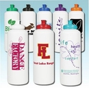 Custom 32 Oz. White Sports Bottle With 53Mm Push Pull Cap, 10