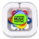Custom Stow 'N Go Earbud Headphone Travel Set (4 Color Process)