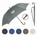 Custom Premium Oversized Golf Umbrella w/ Engineered Wood Curved Handle (64