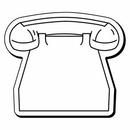 Custom Phone Notekeeper Magnet - 20 Mil Process Color (2 1/2