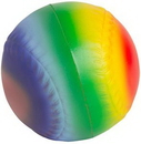 Custom Rainbow Baseball Squeezies Stress Reliever, 2.5