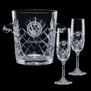 Custom Cavanaugh Cooler & 2 Flutes Glasses