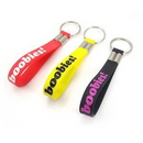 Custom Debossed/Color-Filled Silicone Wristband with Keychain, 8