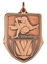 Custom 100 Series Stock Medal (Wrestling) Gold, Silver, Bronze