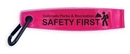 Custom RF1163 - Reflective Safety FOB with Carabiner