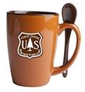 Custom Reading Spoon Mug (Chocolate/Rust Orange)