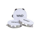 Custom White Top Tambourines, 5.5