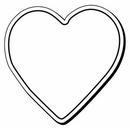 Custom Heart Notekeeper Magnet - 20 Mil Process Color (2