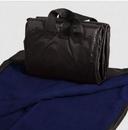 Custom Picnic Blanket - Fleece With Waterproof Shell - Navy, 50