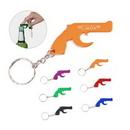 Custom Gun Shaped Bottle Opener With Key Chain, 2.05