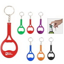 Custom Tennis Racket Shaped Bottle Opener With Key Chain, 3.1