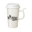 Custom 13 Oz. White Single Wall Travel Mug, 6 1/16