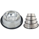 Custom Stainless Steel No Slip Dog Bowls With Rubber Base, 6 3/10
