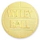 Custom Sports Pin Volleyball Gold, 1
