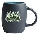 Custom 14 Oz. Puget Mug (Matte Black/Turquoise Blue)