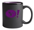 Custom 11 Oz. Hilo C-Handle Mug (Matte Black/Purple)