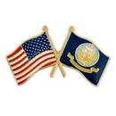 Custom U.S. And Navy Flag Pin, 1 1/8