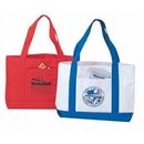 Custom Poly Tote Bag w/ Front Pocket