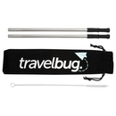 Custom Reusable Stainless steel Straw Set with Brush, 10.63