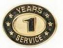 Custom Stock Die Struck Pin (1 Years Service)