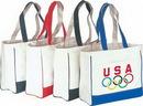 Custom 15 Oz. Cotton Canvas Tote Bag with Velcro Closure