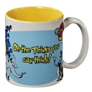 Custom White With Yellow Interior C Handle Mug - 11 Oz.
