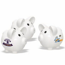 White Ceramic Piggy Bank (Big/Round)Personalised Piggy Banks, Custom Logo Piggy Banks for Kid, 5.75
