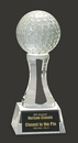 Custom Golf Podium-CB Crystal Golf Ball Award M, 6
