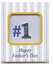 Custom Happy Father's Day No. 1 Special Occasion Pins