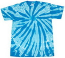 Blank Turquoise Twist Tye Dye T-Shirt