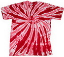 Custom Red Twist Tye Dye T-Shirt