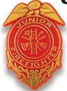 Custom Junior Firefighter Badge Stock Design Plastic Lapel Pin