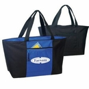 Custom Large Poly Zippered Tote Bag w/ Front Pocket, 25