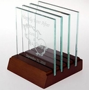 Custom Square Jade Glass Coaster Set (Sandblasted)