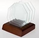 Custom Octagon Jade Glass Coaster (Single) - Sandblasted