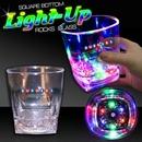 Custom 10oz Square Bottom LED Rocks Glass