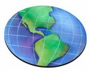 Custom Globe Stock Round Natural Rubber Mouse Pad (8