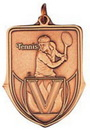 Custom 100 Series Stock Medal (Male Tennis Player) Gold, Silver, Bronze