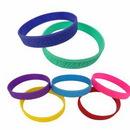 Custom Debossed Silicone Bracelet / Wristband, 8